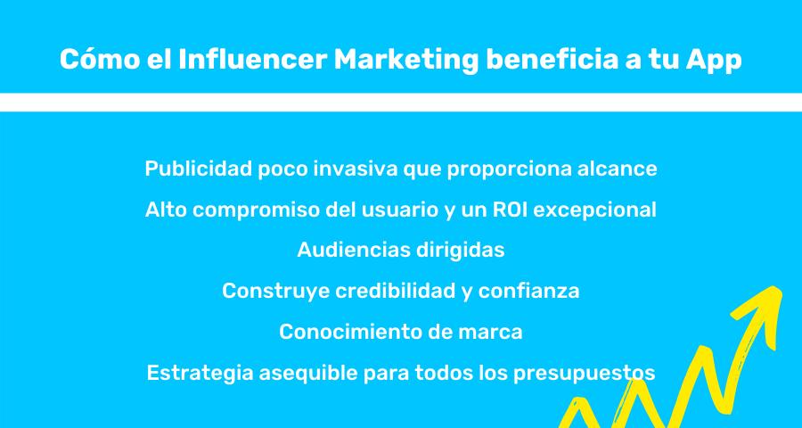 beneficios del marketing de influencers para tu app